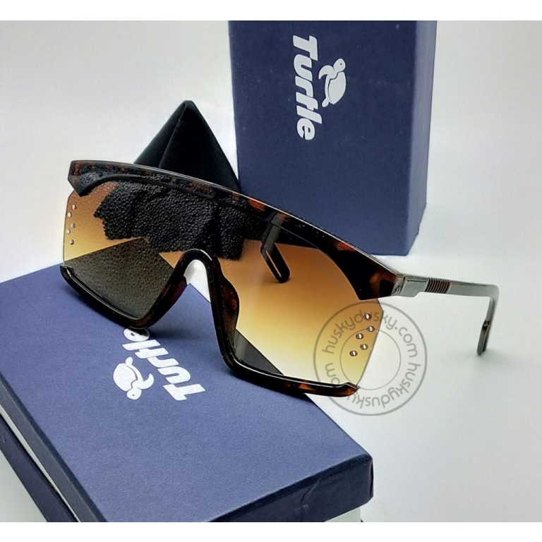 Turtle Brown Shade Glass Man's Women's Sunglass for Man Woman or Girl TT-44 Multi Color Frame Gift Sunglass