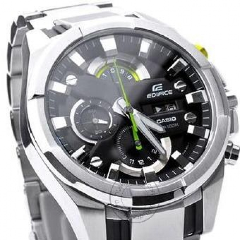 Casio Edifice EFR 540 DY Black Dial Silver Stainless Steel Chronograph Men's watch