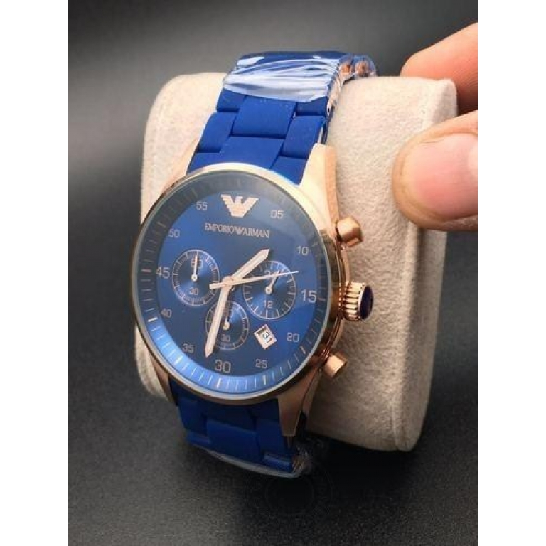 Emporio Armani Blue Chronograph Analog Blue Dial Men's Watch for Man AR5806 Sale Gift