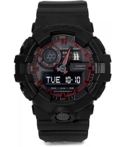 Casio G-Shock Analog Digital Black & Red Belt Men's Watch For Man G763 G-Shock ( GA-700SE-1A4DR ) Multi Color Dial Day And Date Gift Watch Shock