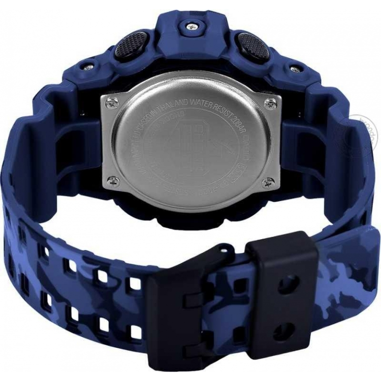 Casio G-Shock Analog Digital Multi color Belt Men's Watch For Man GA-700CM-2ADR Camouflage Blue Color Dial Day And Date Gift Watch Shock