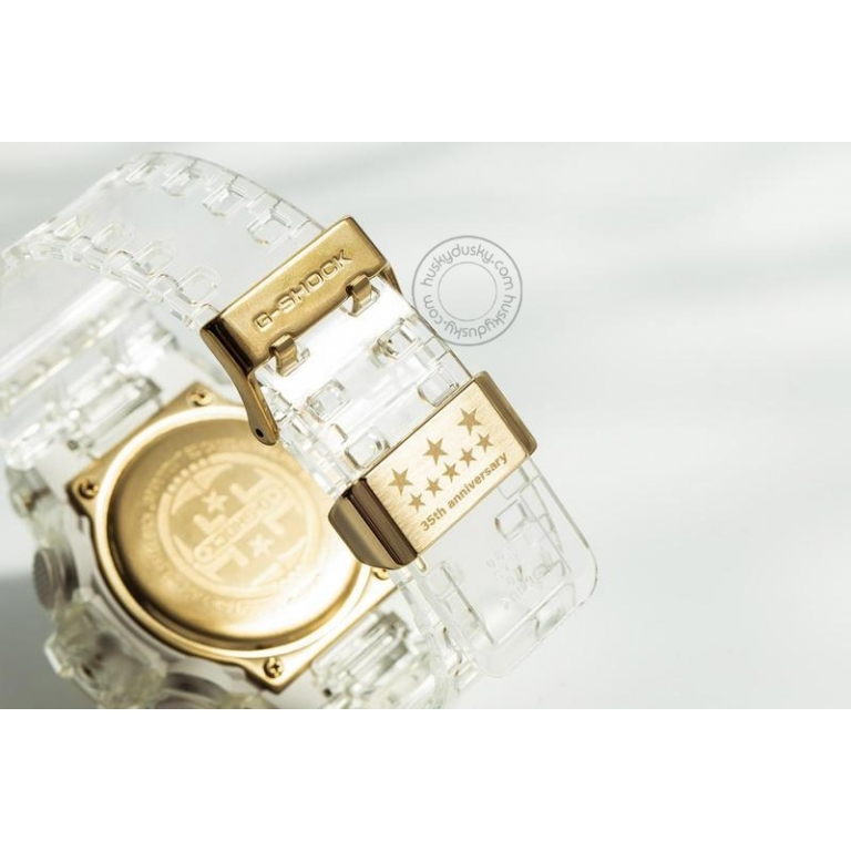 Casio G-shock Analog Digital Transparent Belt Men's Watch For Man GA-735E-7A Glacier Gold Dial Day And Date Gift Watch Shock
