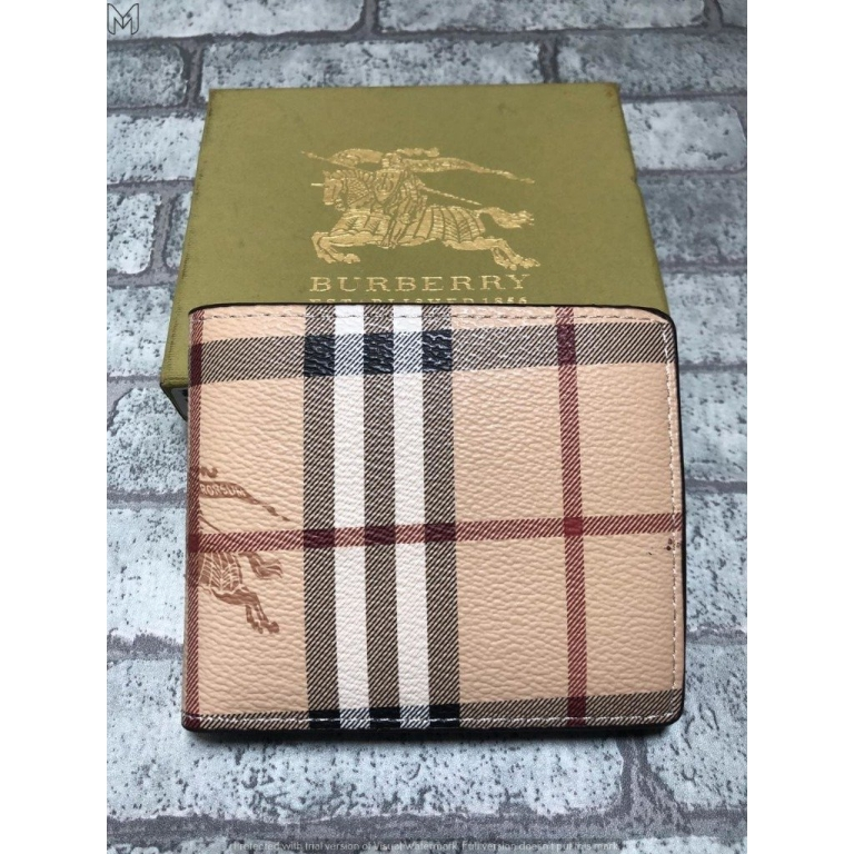 Burberry Multi color Men's Wallet for Man BB-W-04 Design Leather Gift Wallet