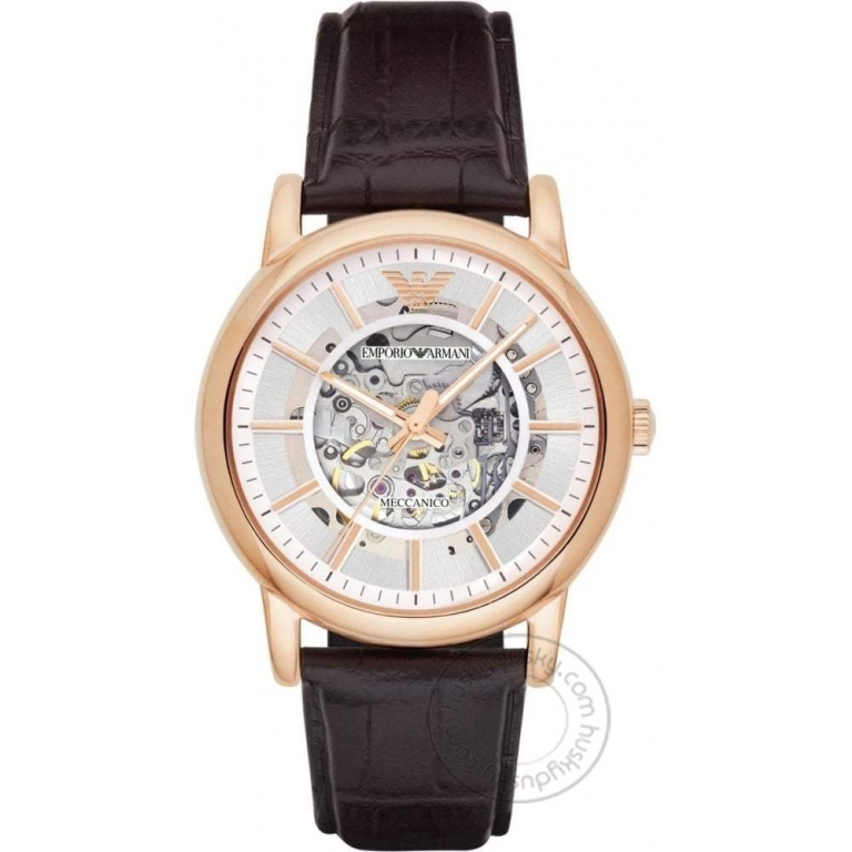 Emporio Armani Automatic Chronograph Brown Leather Men's Watch AR1983