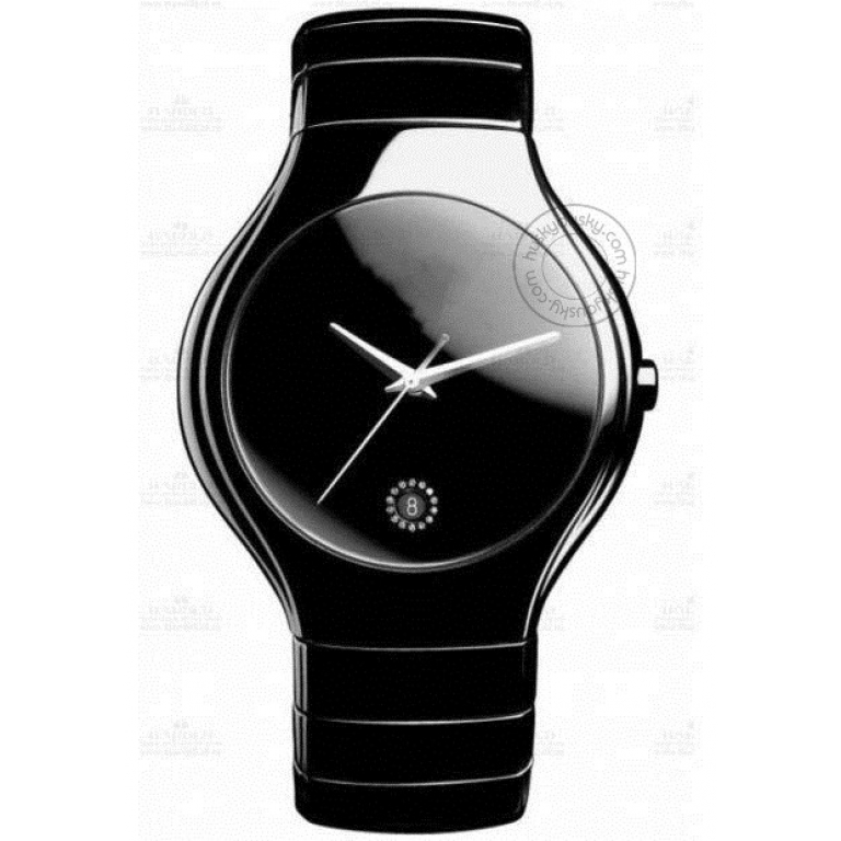 Imported Black Ceramic Black Date Men's Watch for Man Classic Formal Party Gift Rd-Black Ceramic