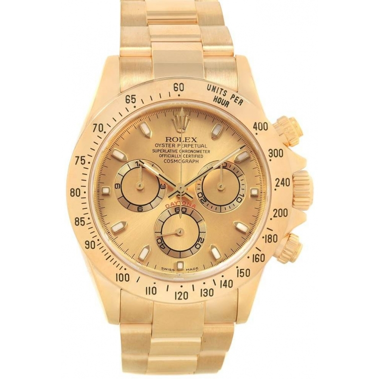 Rolex Chronograph Automatic Gold Strap Men's Watch For Man RLX-GOLD-005 Gold Dial Gift Watch