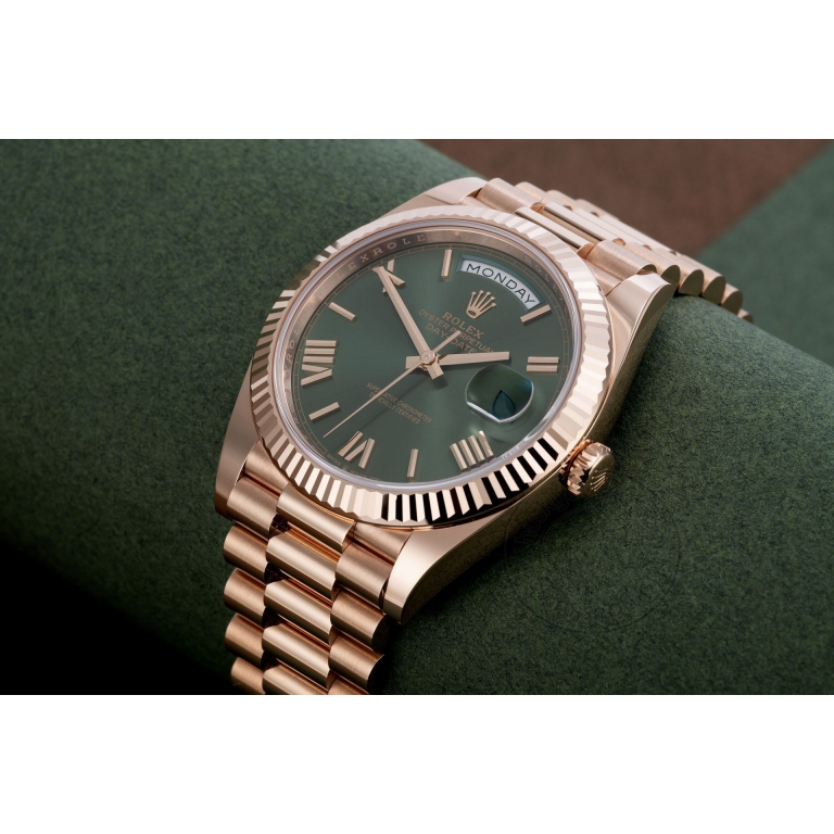 Rolex Watch Oyster Perpetual Day-Date Green Dial Metal Men's Automatic Watch for Man RLX-Oyster