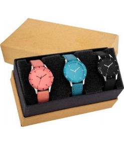 Combo 3 Multicoloured For Women Watch