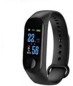 Stykish Fitness Frequency Monitor Heart Band Bracelet Pedometer Fitness Band  (Black)