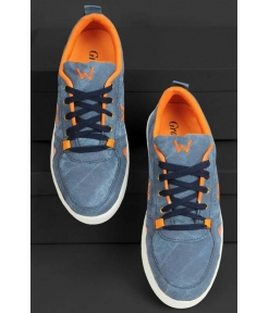 Men's Blue Lace up Synthetic Casual Shoes Stylish Look