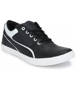 Black & White Lace-Up Great Design Casual Shoes For Men