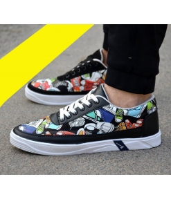 Stylish Multicoloured Printed Casual Sneaker Shoes For Men Cool Design