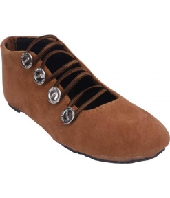 Stylish Synthetic Brown Solid Lace-Up Shoes For Women