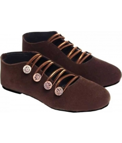 Stylish Synthetic Coffee Solid Lace-Up Shoes For Women